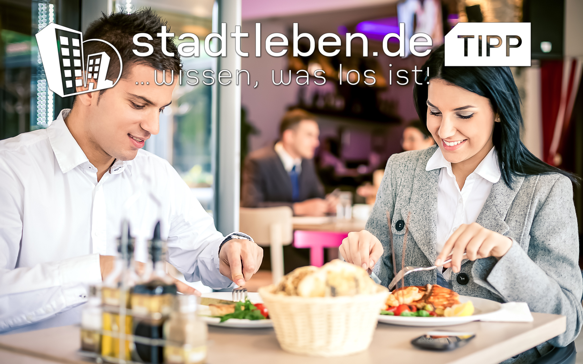 Businesspeople beim Mittagstisch Business Lunch