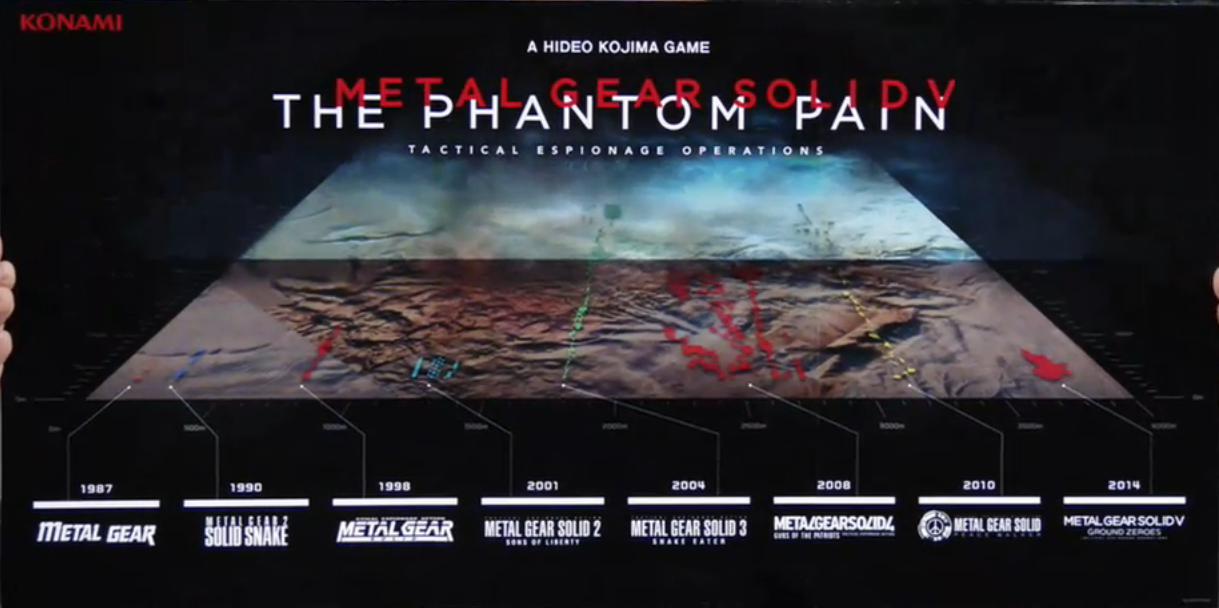 Comparison between map size of MGS: The Phantom Pain and older MGS