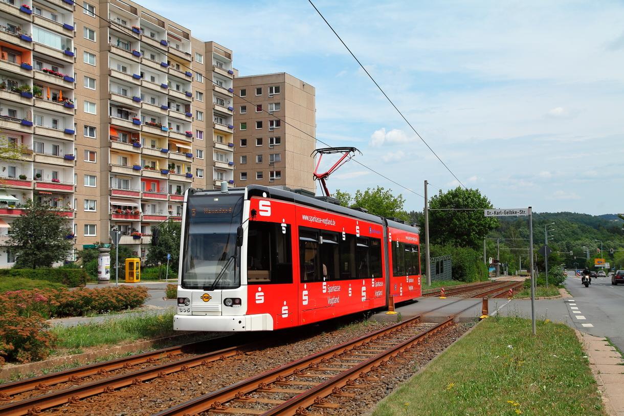 straßenbahn linie bis neundorf plauen