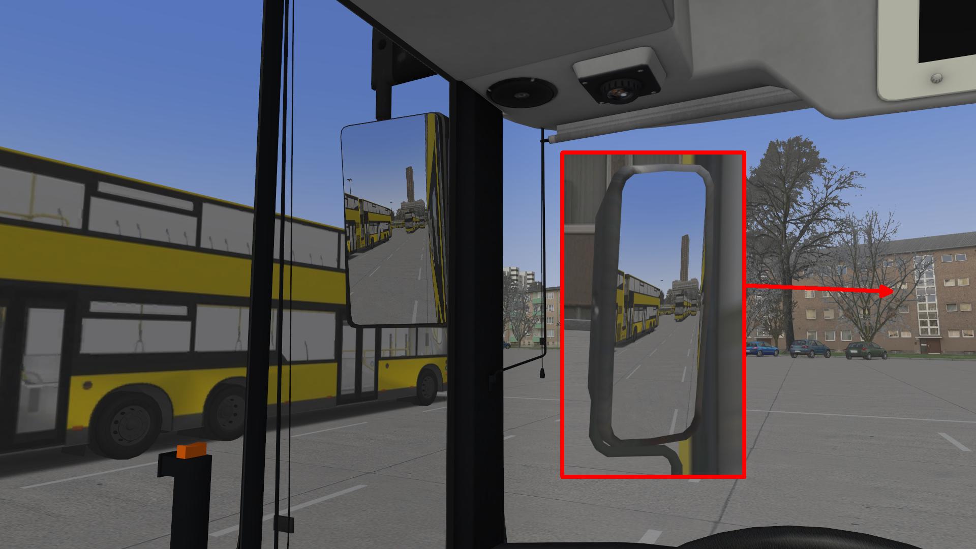 X10 - Wie kann man die Spiegel der geparkten MAN-Busse in der ...