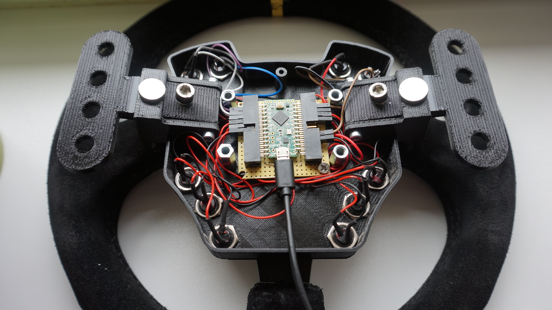 Diy Der Wheel Buttonplate Rim Thread Archiv Seite 6 How To Wire A Rotary Switch With Leo Bu0836x Board Virtual Racing Ev Forum