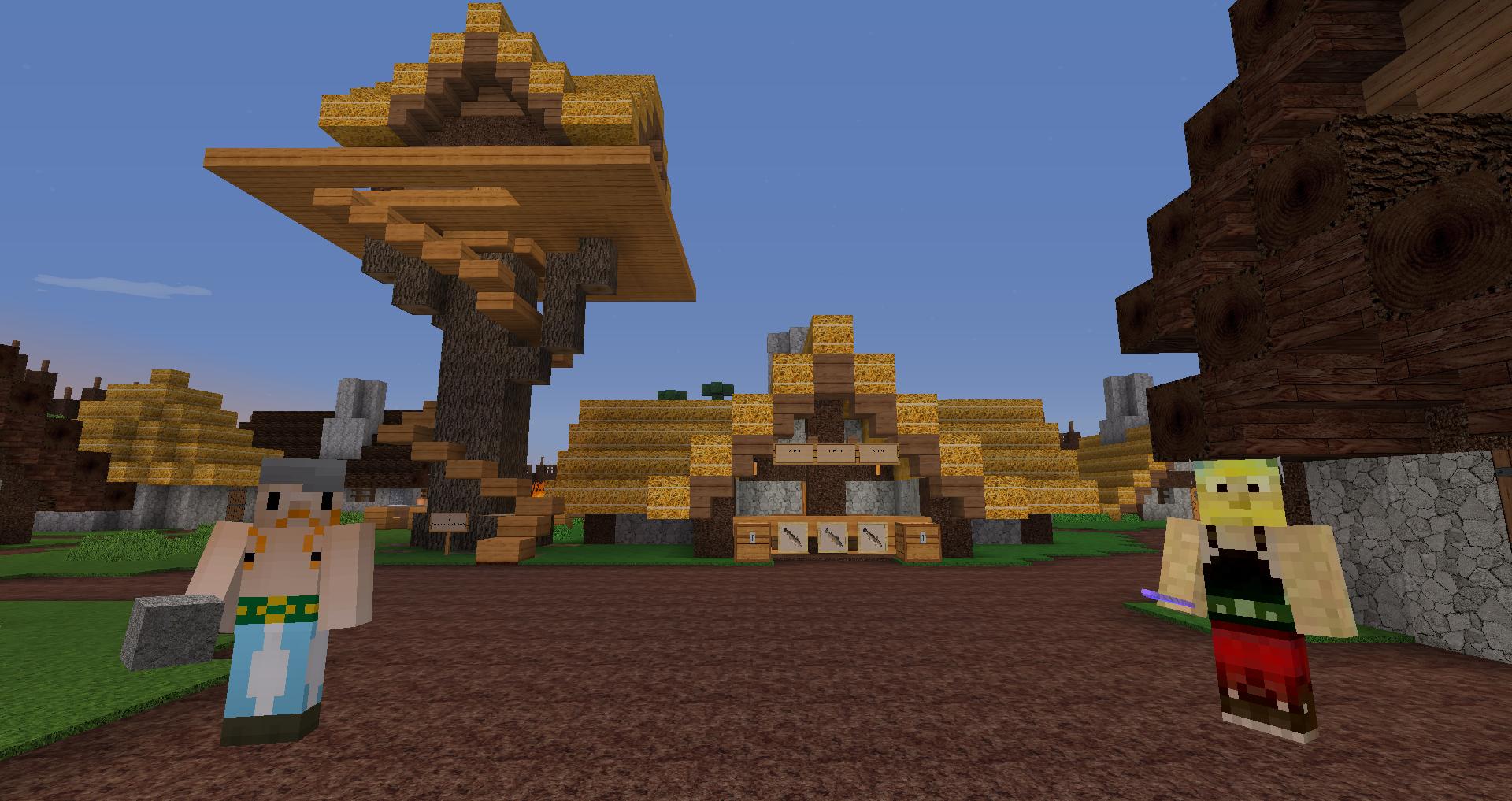 Projekt im Bau - Das Dorf von Asterix | Minecraft-Spielplatz