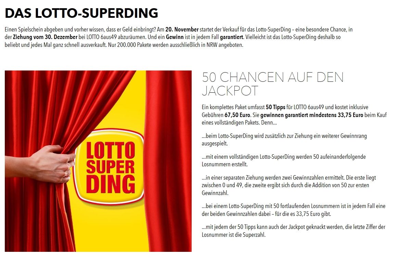 Lottozahlen Nrw Superding