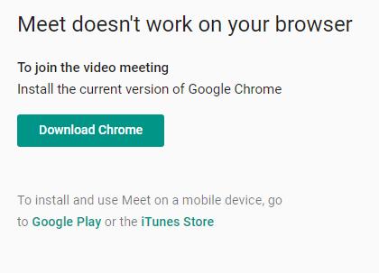 meet google com unsupported, need chrome | Vivaldi Forum