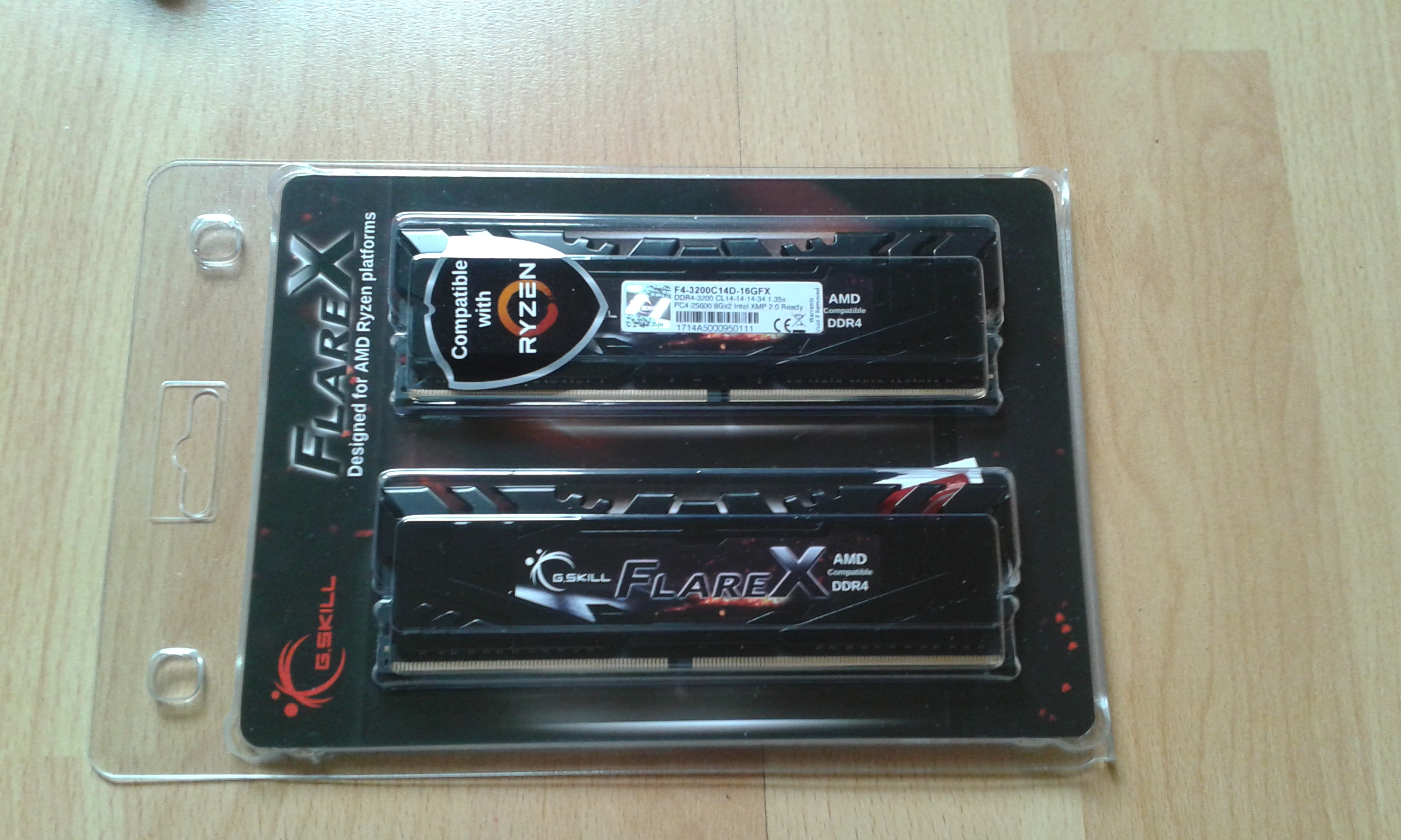 G Skill FlareX DDR4-3200 C14-14-14-34 1,35v Review - User reviews