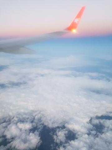 *sing* über den Wolken.....