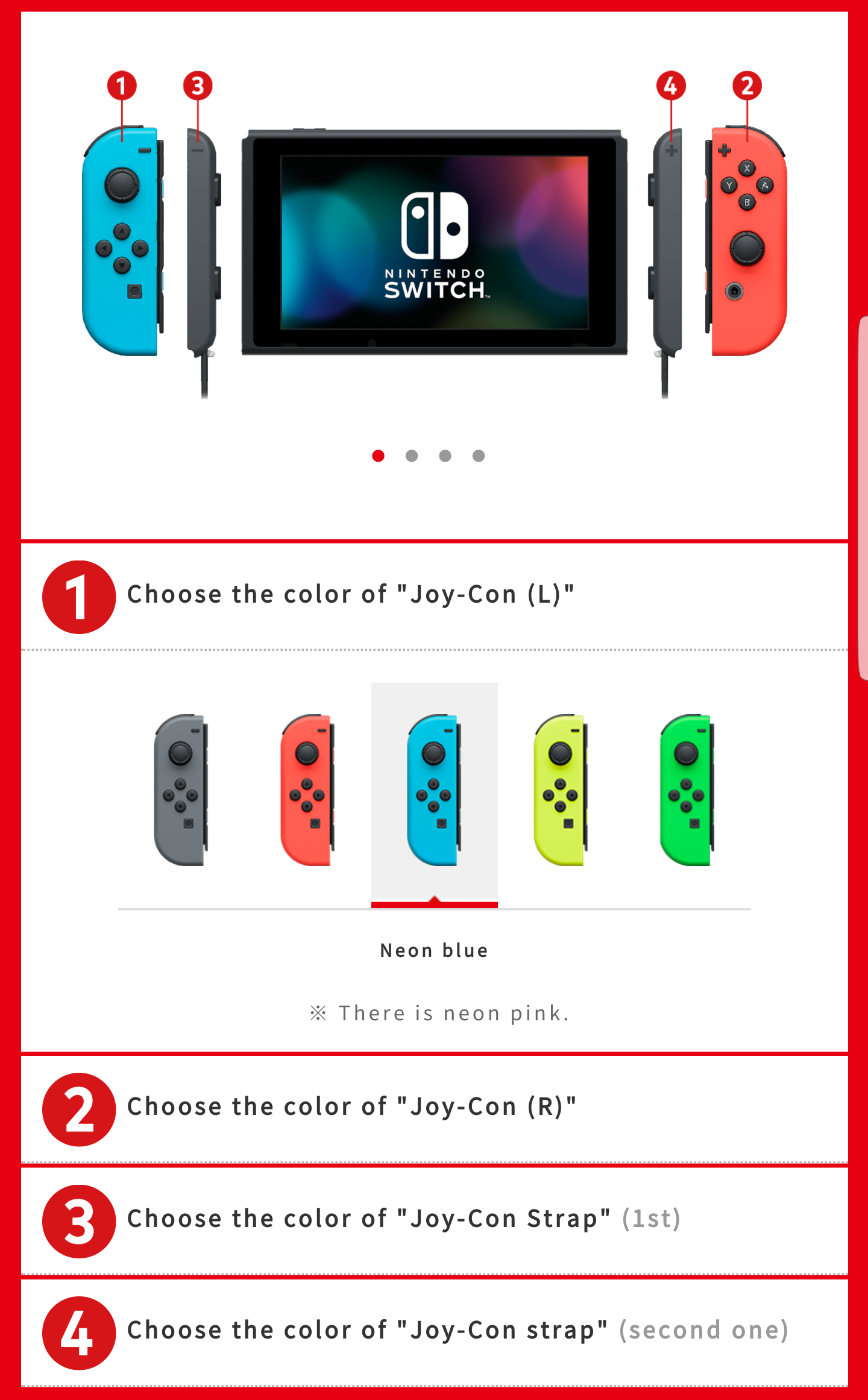 Nintendo Japan Now Allows You To Special Order Switch Color Combos Joy Con Strap Neon Yellow
