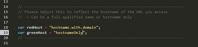 Adjust hostnames