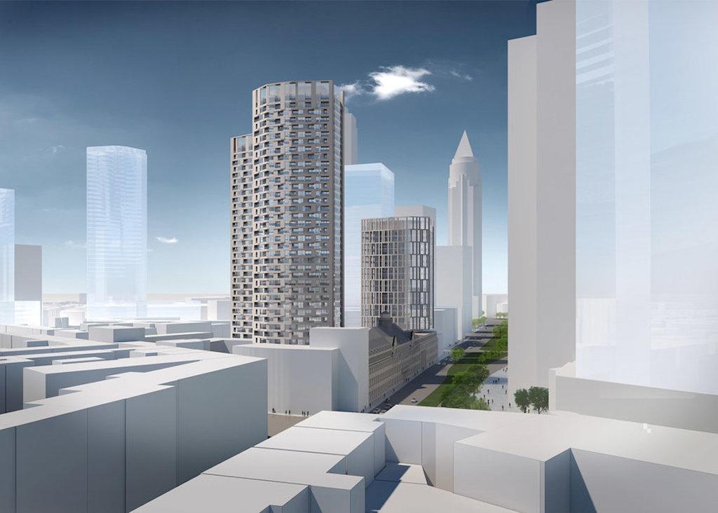 Frankfurt hochhaus am polizeipr sidium 145m in - Mow architekten ...