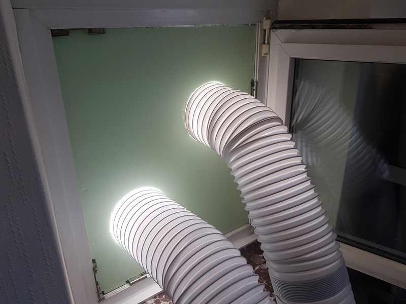 Zweischlauch Klimagerät für Dachgeschoss ACP24/Trotec3550 ...