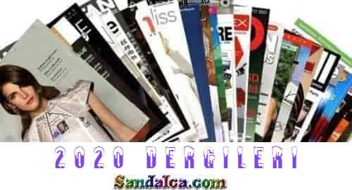 2020 Yılı Dergi Paketi – 2020 Dergileri PDF indir