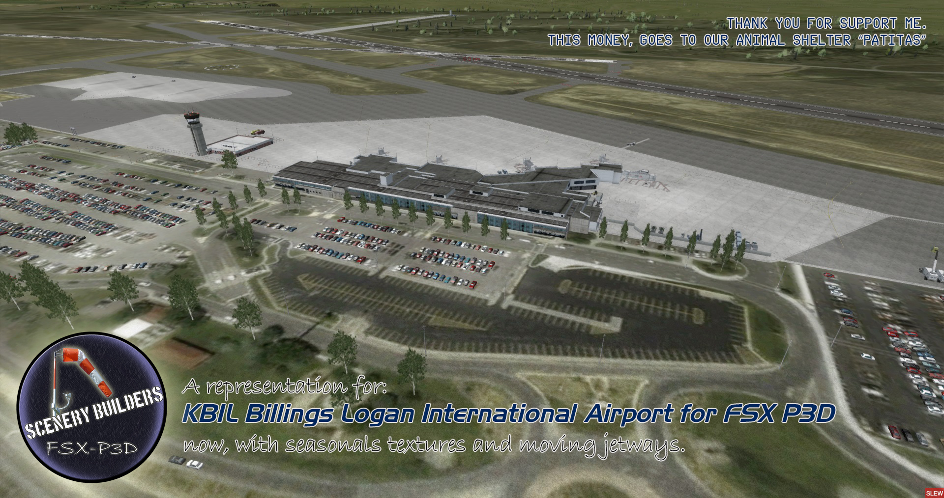 Scenery Builders - Billings Logan International Airport (KBIL) ~ Mi