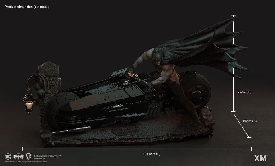 Premium Collectibles : Batman White Knight on Bike1/4 Statue 2063k0d