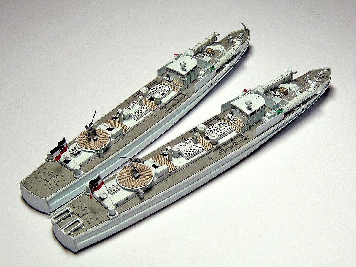Schnellboote Série S7-S13 de la Reichsmarine 1:250 21-vonobenachterlichidjxr