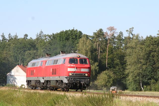 217 019-9 + 217 015-7 bei Kastl(Oberbay)