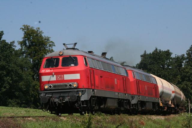 217 020-7 + 217 013-2 bei Kastl(Oberbay)