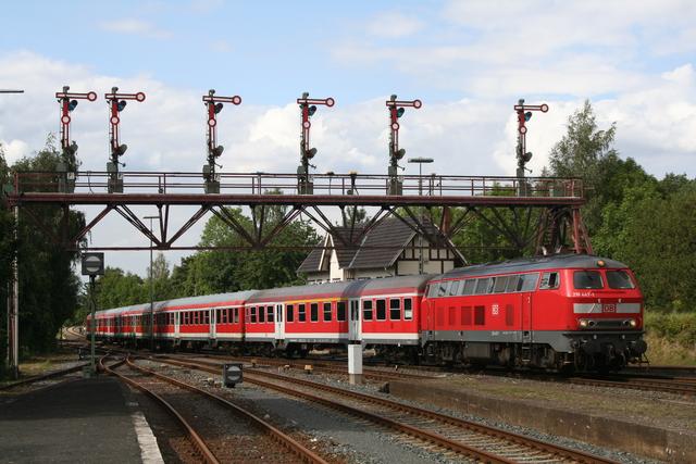 218 447-7 Einfahrt Bad Harzburg