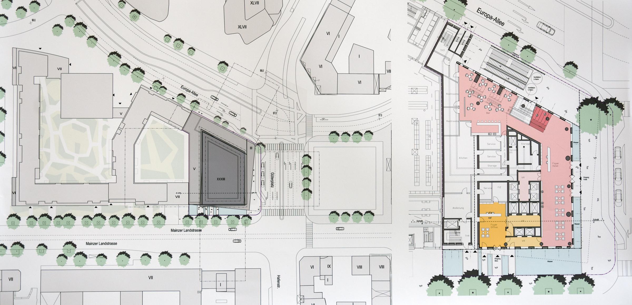 Güterplatz: The Spin (128 m), Eden (98 m), Wohnungsbau [Bauphase ...