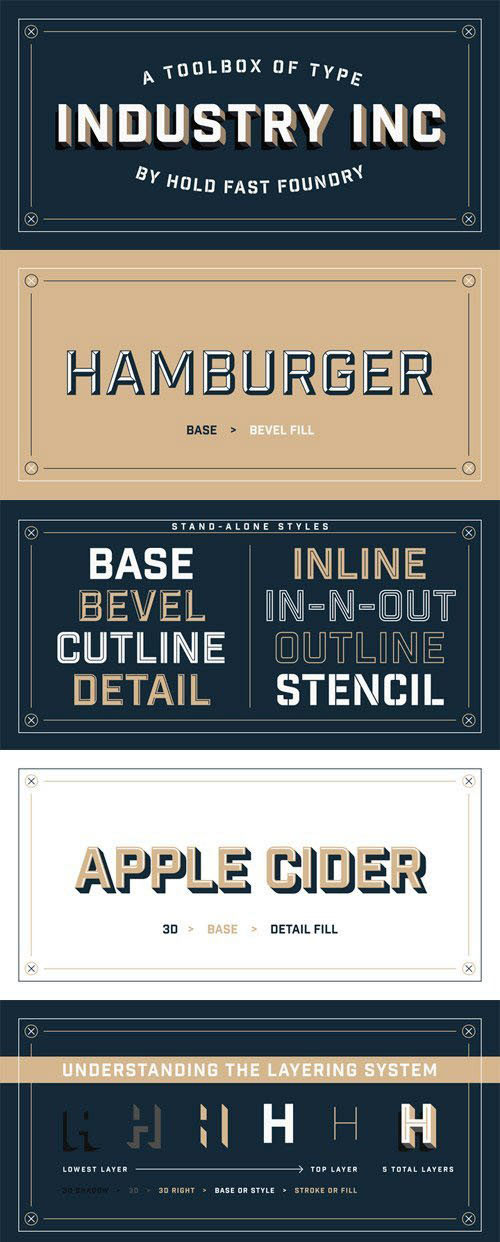 Industry Inc Font Family - 14 font styles from ($69 00