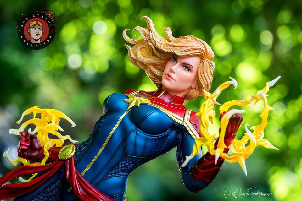 Premium Collectibles : Captain Marvel 1/4 Statue 240452343_13625618536sekjj