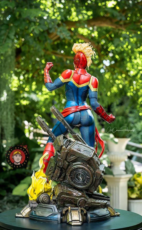 Premium Collectibles : Captain Marvel 1/4 Statue 240659839_13625596203r4kih