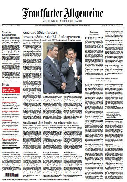 Frankfurter Allgemeine 21 Juni 2018