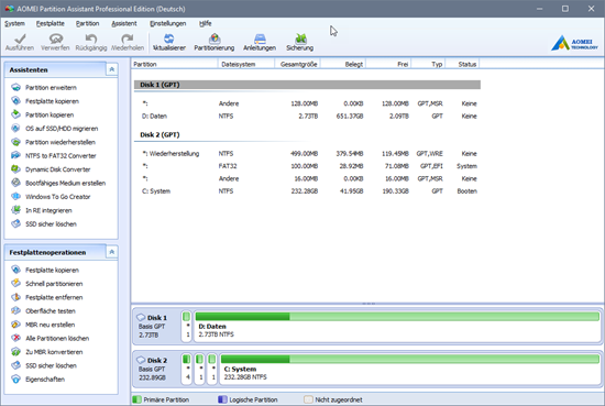 download AOMEI Partition Assistant v7.5