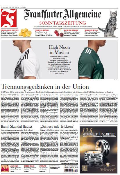 Frankfurter Allgemeine Sonntags Zeitung 17 Jun 2018