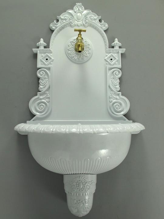 wandbrunnen 77cm gartenbrunnen ausgu becken. Black Bedroom Furniture Sets. Home Design Ideas