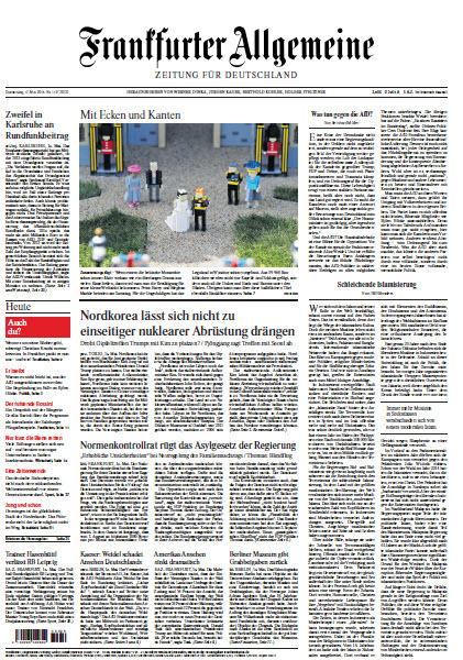 :  Frankfurter Allgemeine 17 Mai 2018
