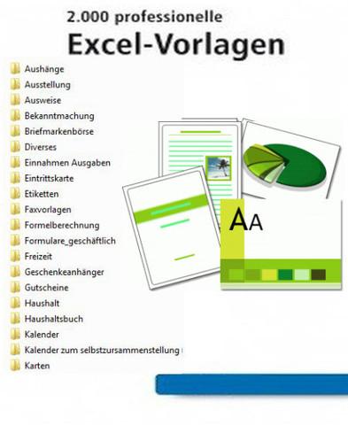 : 2000 Excelvorlagen 2013