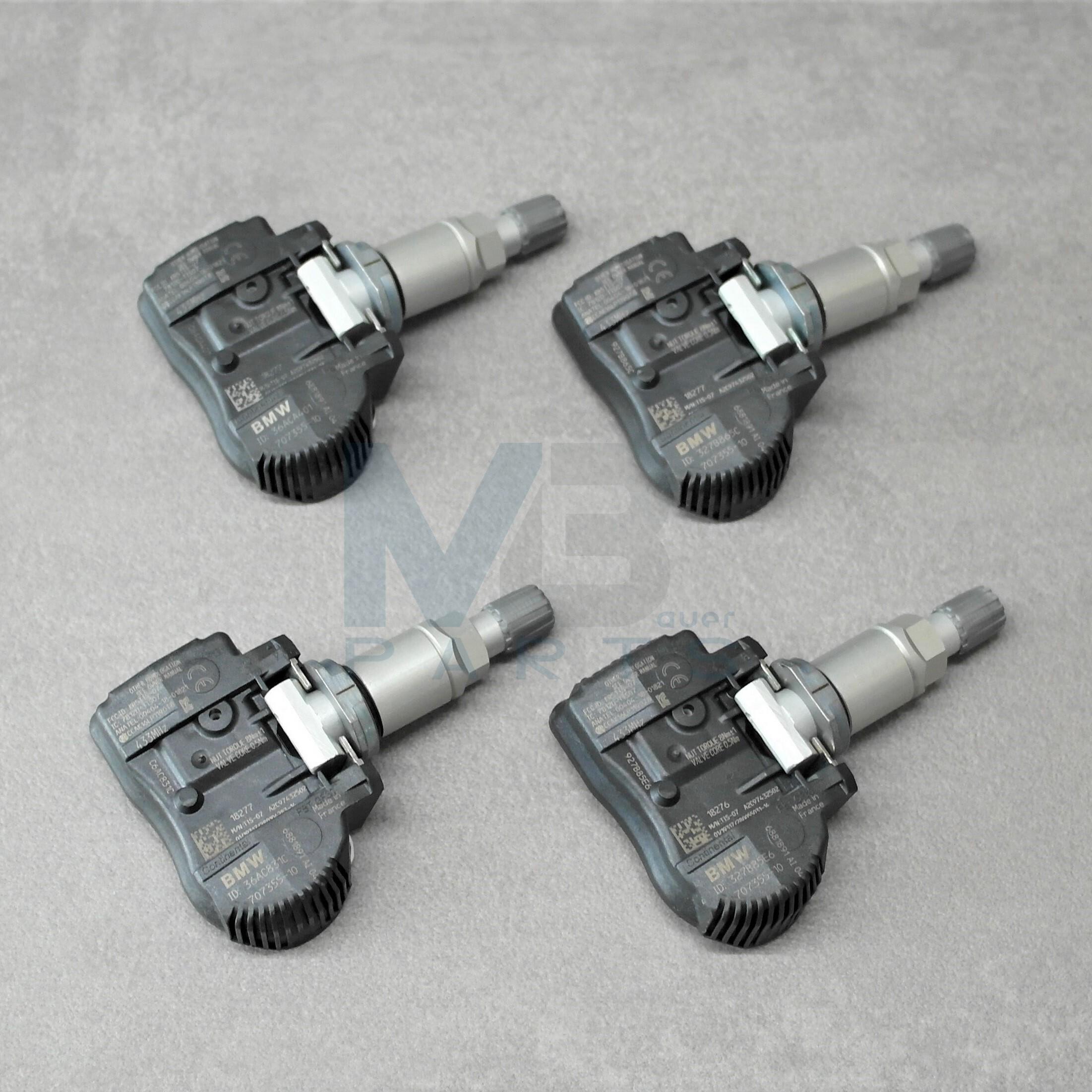 4 St/ück RDKS // TPMS Sensor-Satz Typ F48 von 08-2015 bis 12-2017 f/ür BMW X1 Reifendruckkontrolle replacement zur OE-Referenz 36106856209