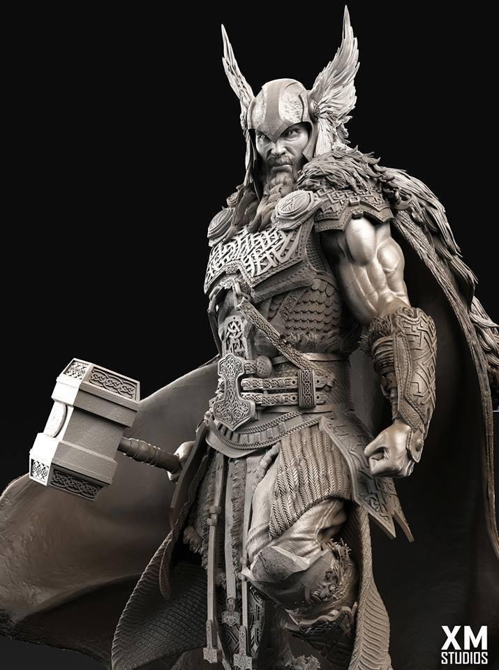 Premium Collectibles : Thor by Caleb Nefzen** 28377850_1015543430840ruu8