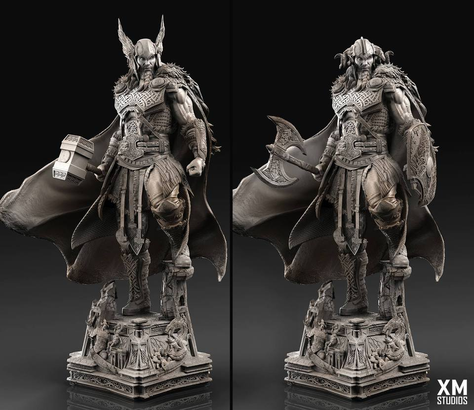 Premium Collectibles : Thor by Caleb Nefzen** 28423629_1015543430838ruds