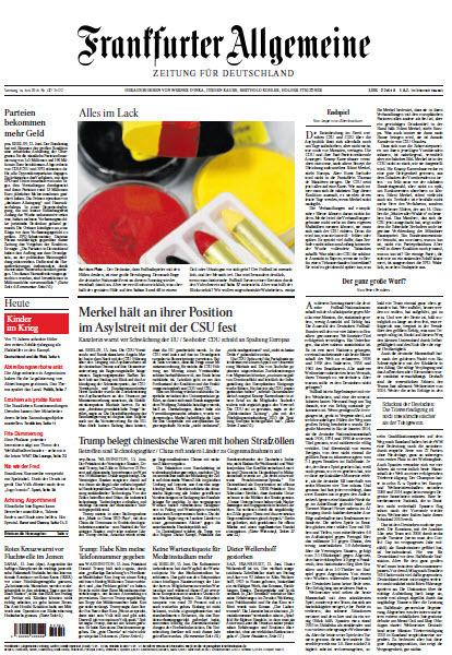 Frankfurter Allgemeine 16 Juni 2018