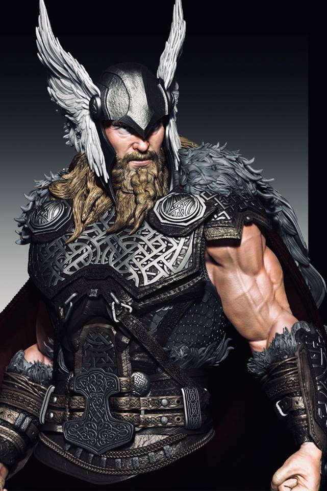 Premium Collectibles : Thor by Caleb Nefzen** 29513169_10155505296892sax