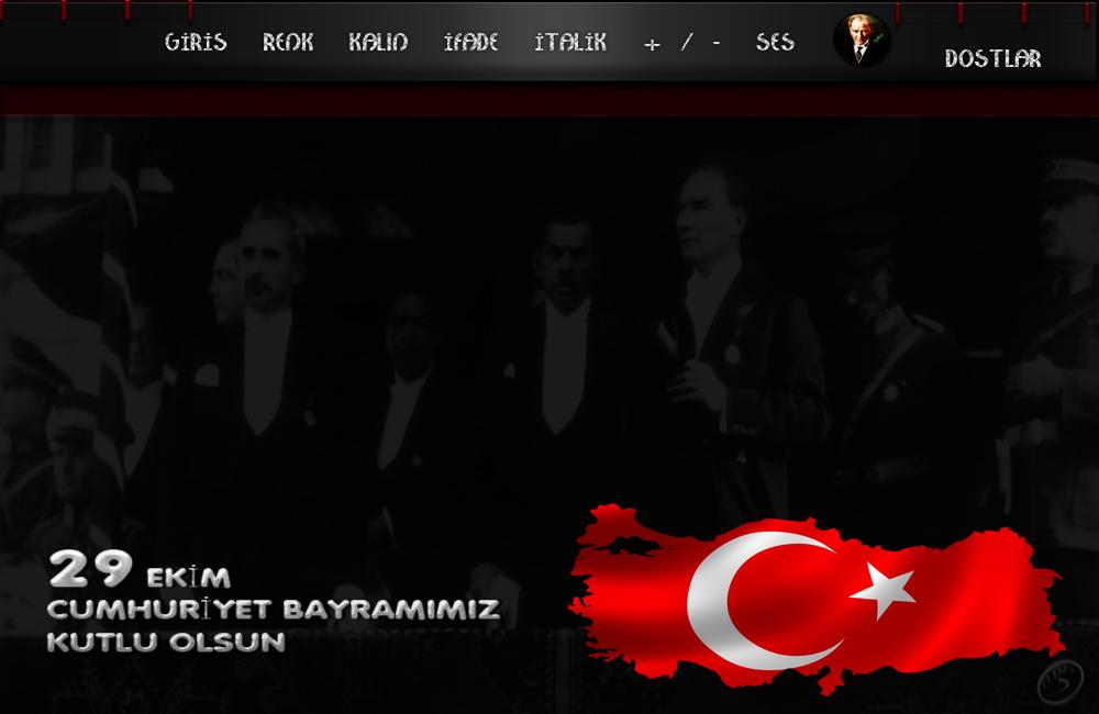 29 Ekim Cumhuriyet Bayramı Tema