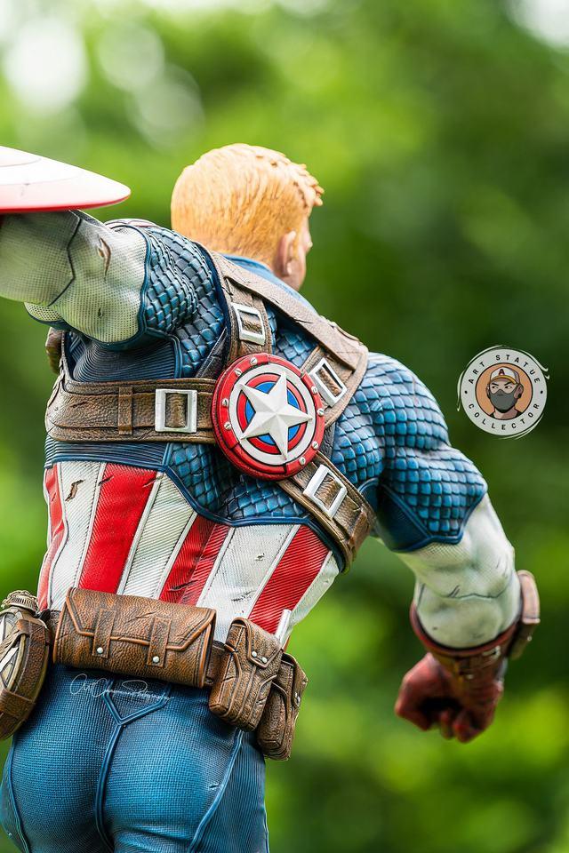 Premium Collectibles : Captain America Ultimate 1/4 Statue 2bodkpg