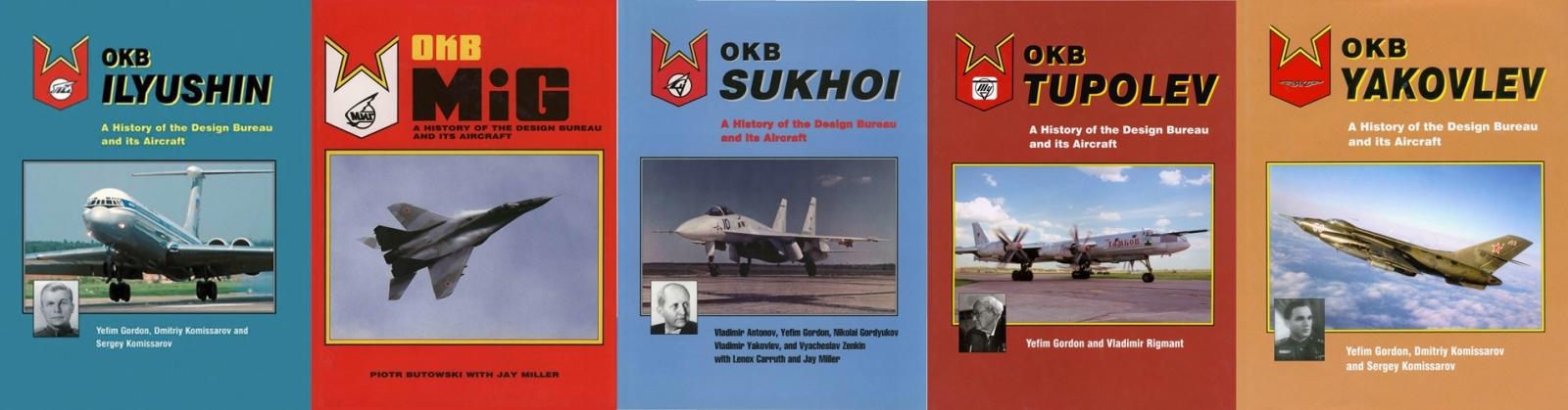 OKB Ilyushin, OKB MiG, OKB Sukhoi, OKB Tupolev, OKB Yakovlev