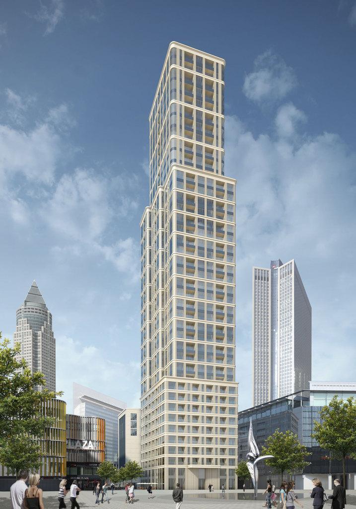 frankfurt grand tower wohnturm skyline plaza 172m 47 stockwerke in bau page 4. Black Bedroom Furniture Sets. Home Design Ideas