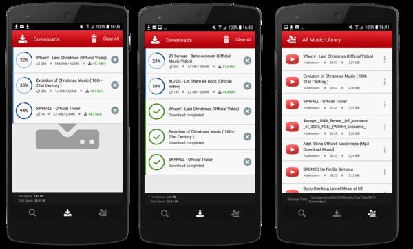 Telecharger Youtube MP3 sur Android - Poubelle - Phonandroid com