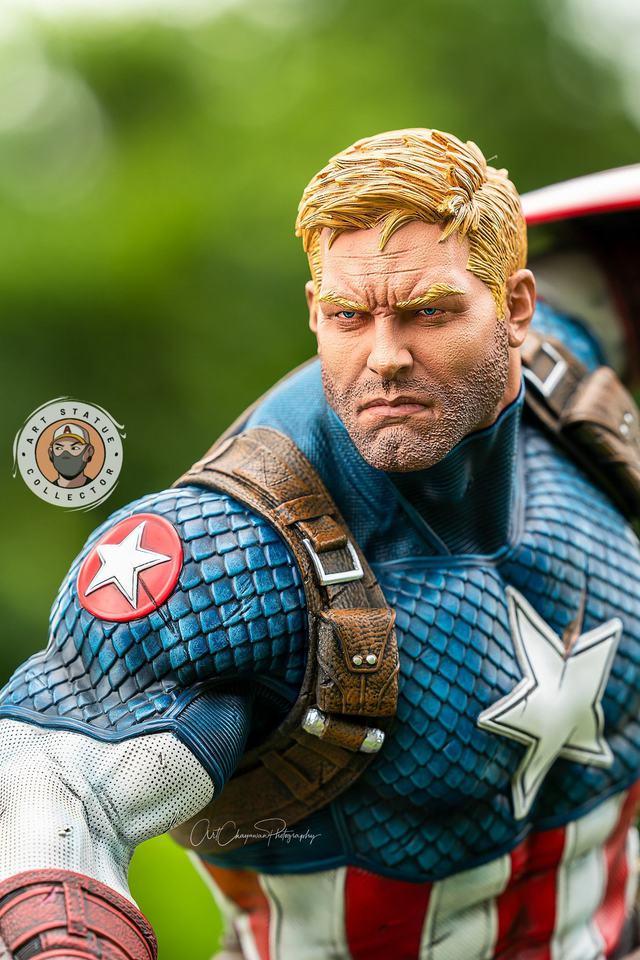Premium Collectibles : Captain America Ultimate 1/4 Statue 2s9kxi