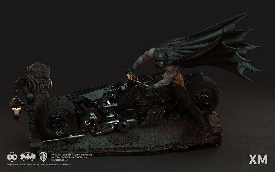 Premium Collectibles : Batman White Knight on Bike1/4 Statue 2zsk9p