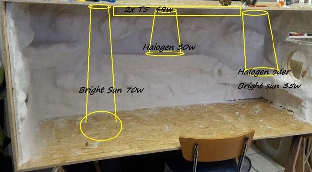 bleuchtung neues terra einbauleuchte bartagame bartagamen terrarium forum bartagame. Black Bedroom Furniture Sets. Home Design Ideas