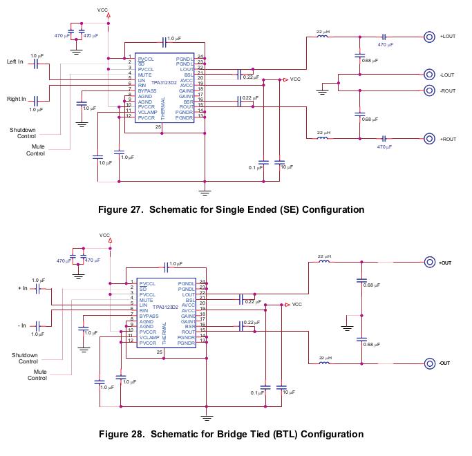 TPA3123D2 class d amp bridging - diyAudio