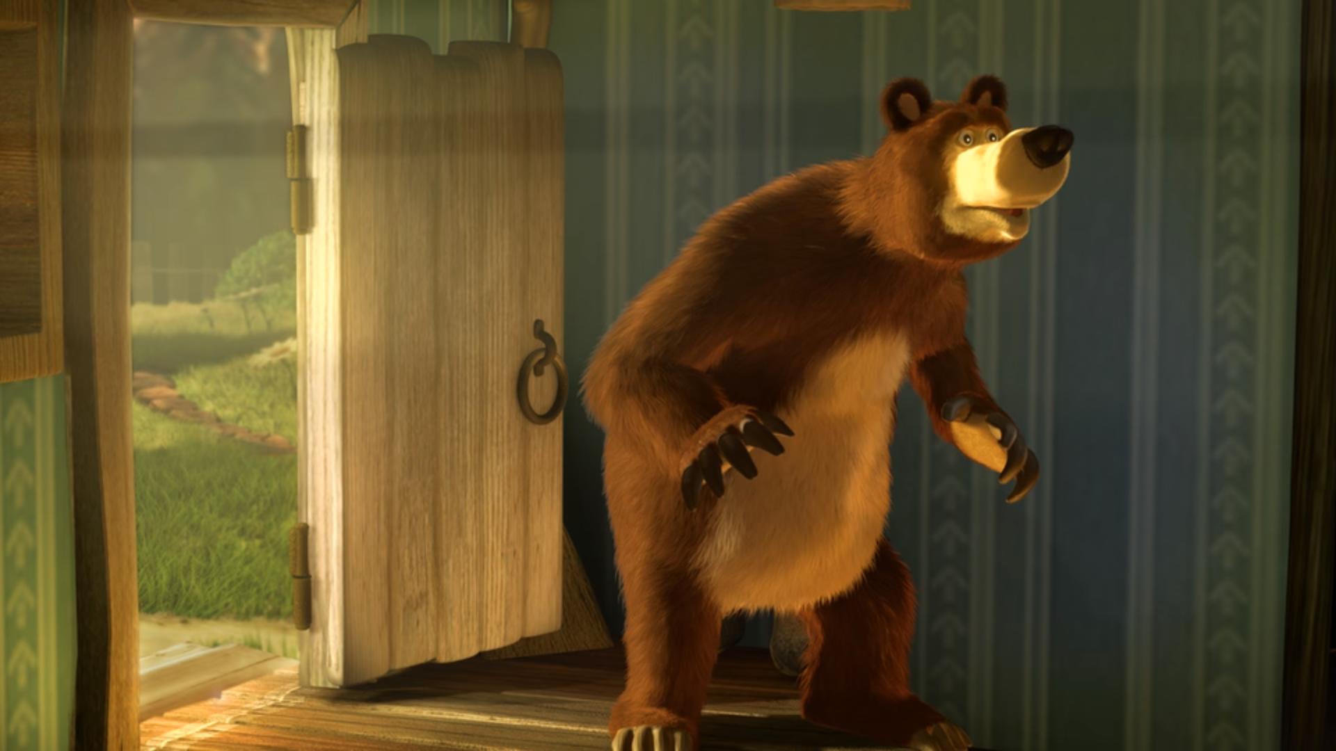 маша и медведь первая встреча гифка работает регулятор