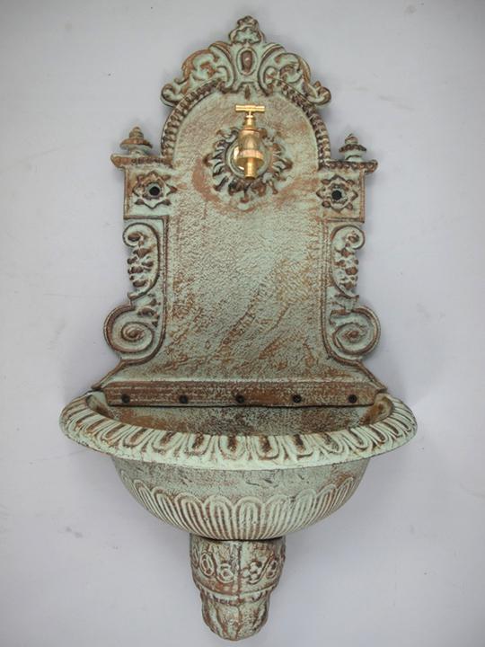 wandbrunnen 75cm hoch 14kg gusseisen gartenbrunnen. Black Bedroom Furniture Sets. Home Design Ideas