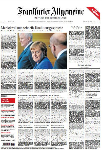 : Frankfurter Allgemeine 13 Januar 2018