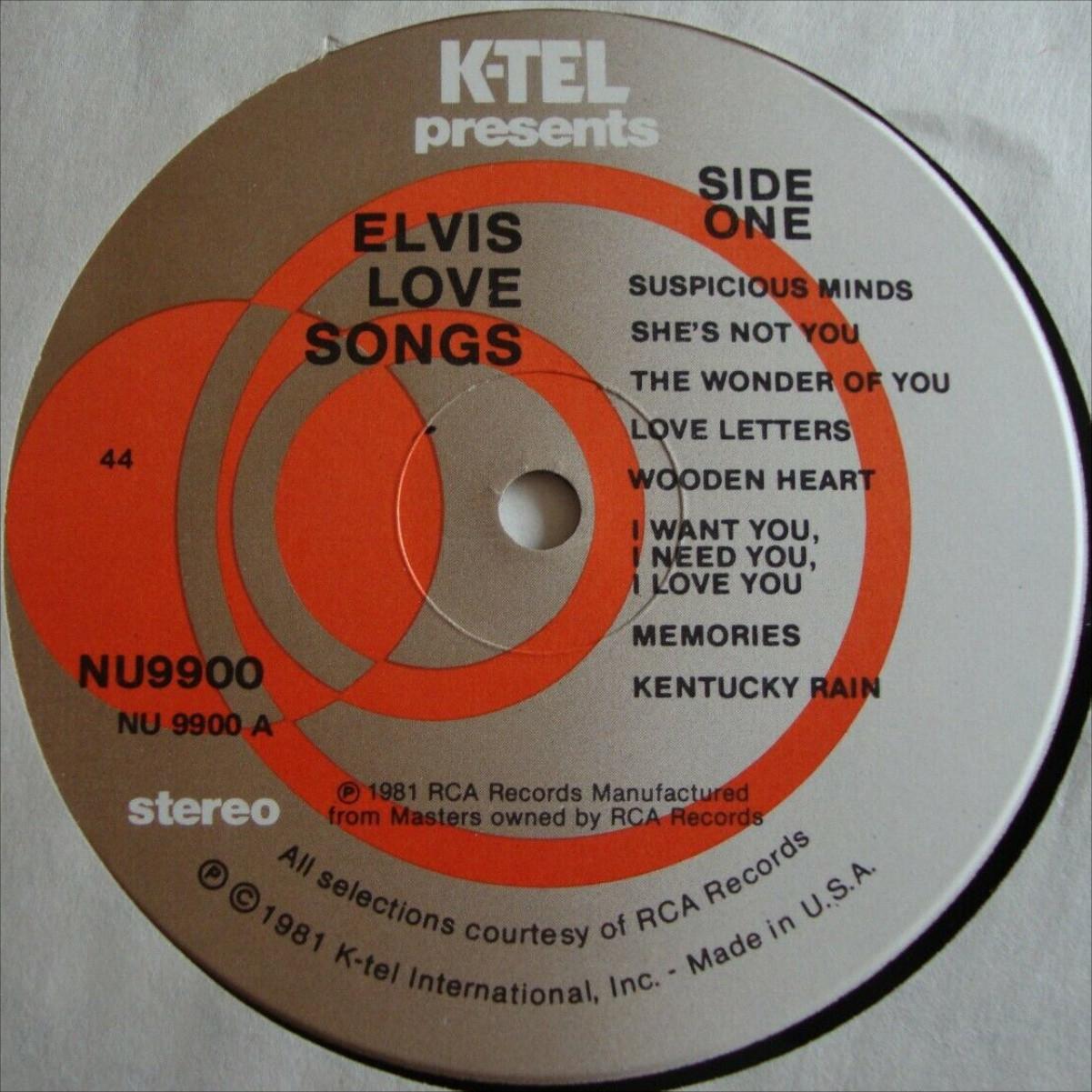 USA - ELVIS LOVE SONGS 34ukzd