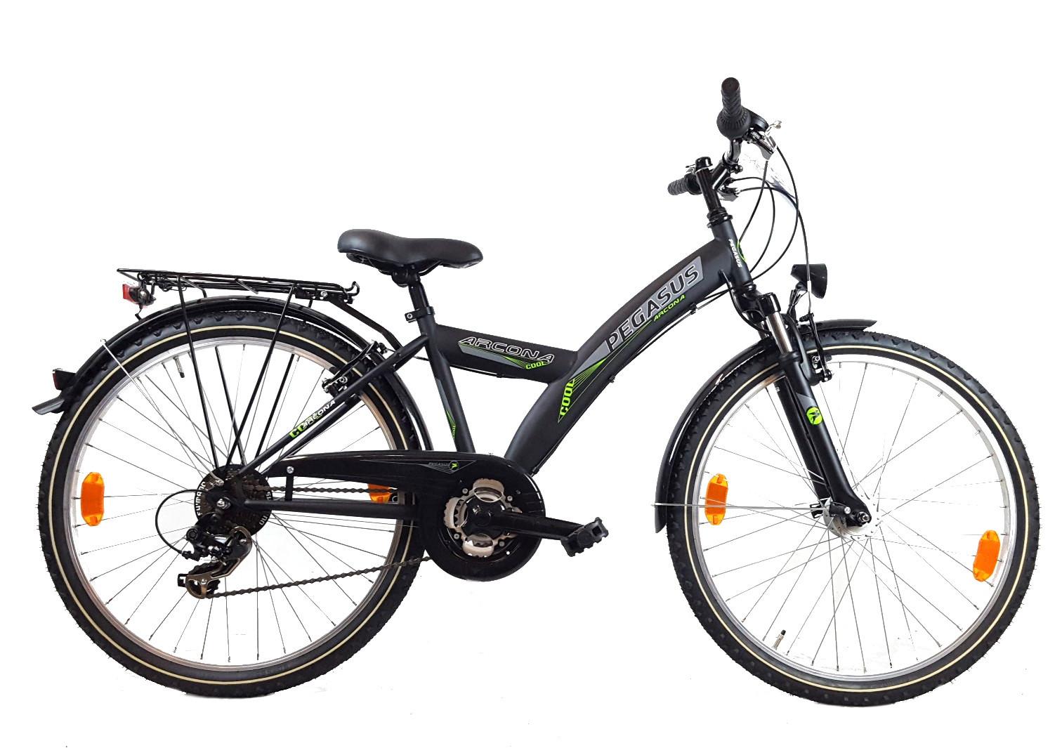 jugend fahrrad pegasus arcona fg nd schwarz 21g shimano 44. Black Bedroom Furniture Sets. Home Design Ideas